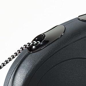 Flexi New Classic Retractable Dog Leash (Cord), 26 ft, Small, Black