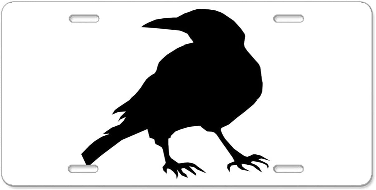 Black Crow Pulongpoq License Plate frame Car License Plate Holder Tag For Soldiers,firemen