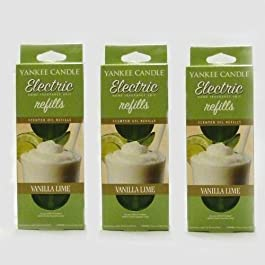 Yankee Candle – 3x Vanilla Lime Electric Plug-In Refill Twin Pack (6 Refills In Total)