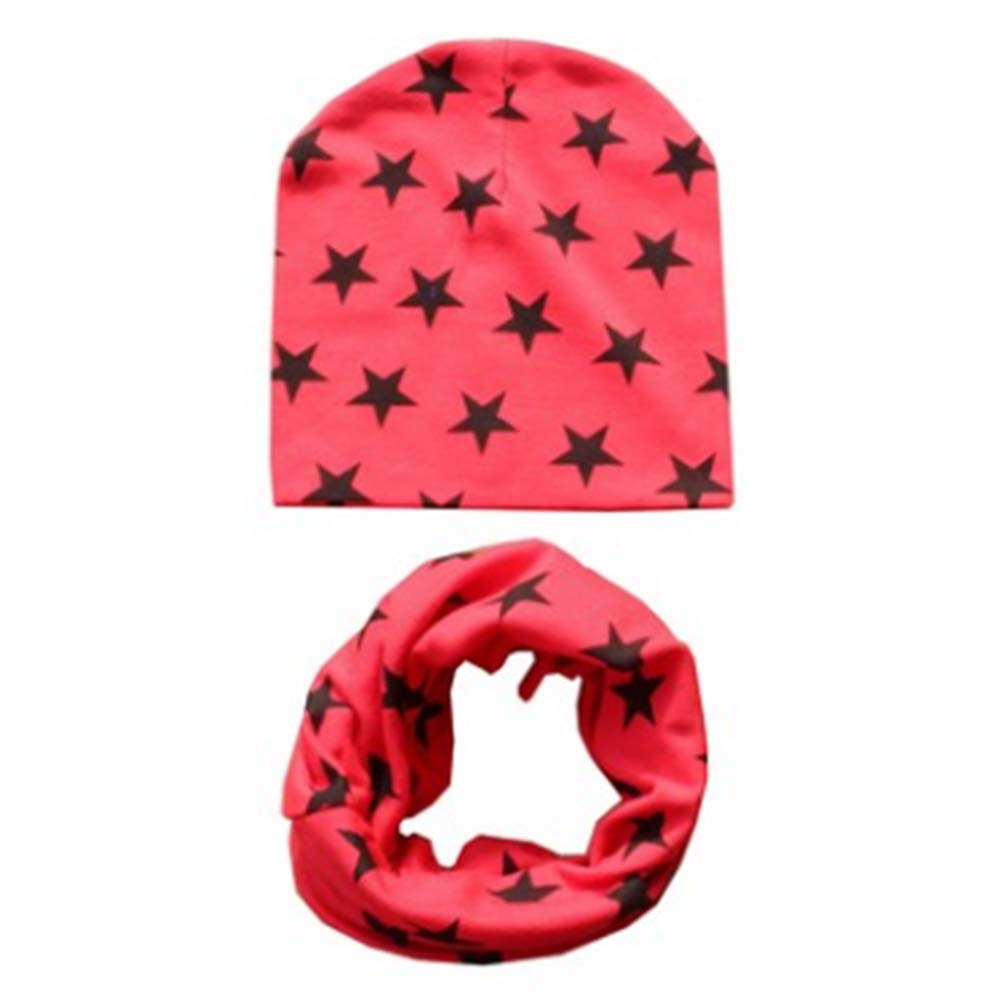 NuuMo Baby Scarf Set Infant Soft Cotton hat and Snood Scarf Neck Warmer for Toddler Kids