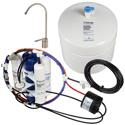Home Master TMAFC-ERP-L Artesian Full Contact with Permeate Pump Loaded Undersink Reverse Osmosis Water Filter System - Filmtec Tap Water