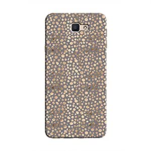 Cover It Up - Brown Maroon Pebbles Mosaic Galaxy J5 Prime Hard Case