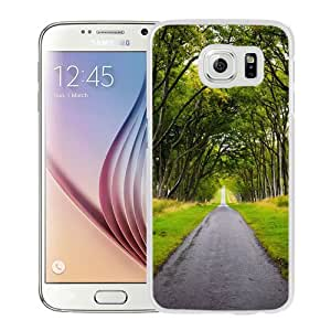 NEW Unique Custom Designed Samsung Galaxy S6 Phone Case With Scotland Forest Road_White Phone Case