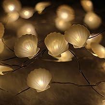 Seashell String Lights Outdoor : Amazon.com: seashell light string