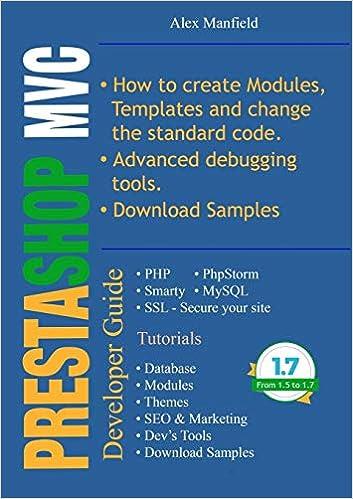 Prestashop MVC Developer Guide: Amazon.es: Alex Manfield: Libros en idiomas extranjeros