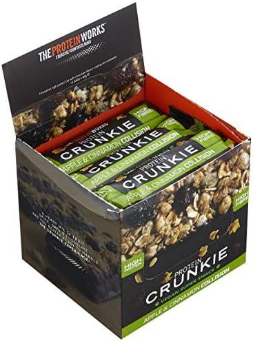 Protein Crunkies / APFEL-ZIMT-STRUDEL / von THE PROTEIN WORKS / 12er Box / Nur 3g Zucker und vollgepackt mit frechen 18g erstklassigem Protein.