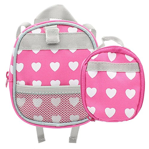 Doll Backpack Set Of 2 Doll Size Back Pack And Lunch Bag
