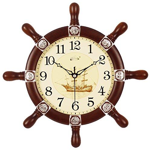 Pendant Quartz Clock - Rudder Wall Clock Living Room Mute Creative Clock Modern European Mediterranean Pendant Decorative Quartz Clock 14 inches
