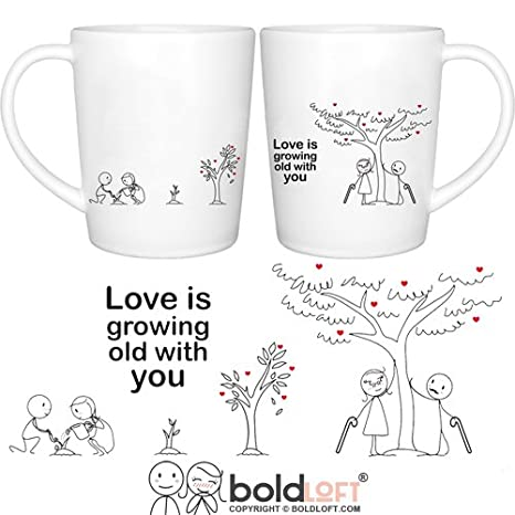 BOLDLOFT Grow Old with You His u0026 Hers Coffee Mugs-Anniversary Gifts for Him Her  sc 1 st  Amazon.com & Amazon.com: BOLDLOFT Grow Old with You His u0026 Hers Coffee Mugs ...