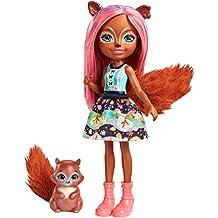 Enchantimals Sancha Squirrel Doll & Stumper