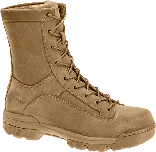 Lace Military Boots (Bates Men's Ranger Hot Weather Comp Toe Military and Tactical Boot, Coyote, 7.5 M US)