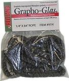 Rutland Grapho-Glas Woodstove Gasket Rope, 3/8 by 84-Inch