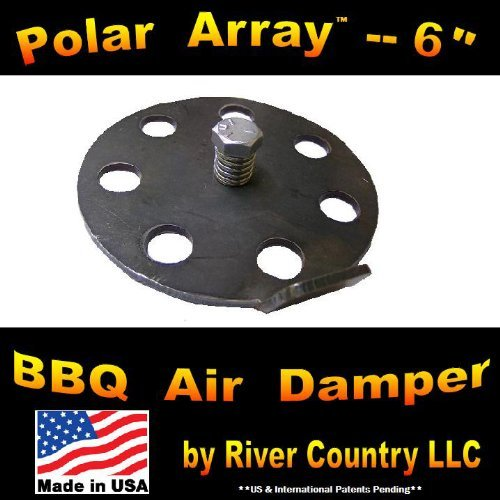 6 Polar Array BBQ Grill, Smoker or Pit Air Venting Damper Kit 6 Polar Array BBQ Grill River Country PA6