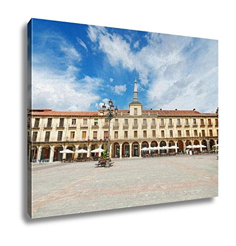 Ashley Canvas, Scenic View Of Leon Major Square Leon Spain, Home Decoration Office, Ready to Hang, 20x25, AG5528314 by Ashley Canvas