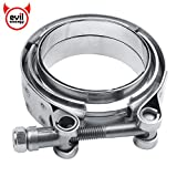 EVIL ENERGY 3 Inch Mild Steel Exhaust V Band Clamp Male Female Flange Assembly