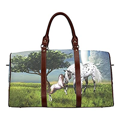 Horses Love Forever Custom Waterproof Travel Tote Bag Duffel Bag Crossbody Luggage handbag