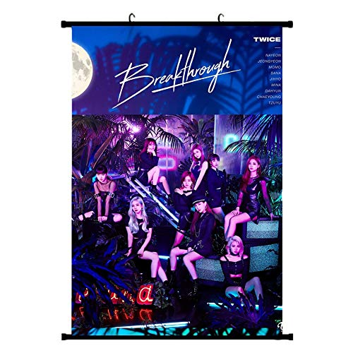 Youyouchard Kpop Twice New 5th Mini Album [ Breakthrough ] Poster Official Supported Poster Hanging Painting Art Painting Wall Scroll Poster Fashion(H01)