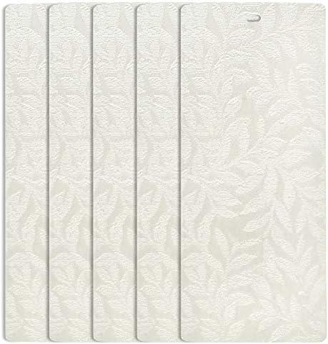 DALIX Rainforest Off-White Vertical Blind Texture Sliding Door 98.5 Qty 5 Pack
