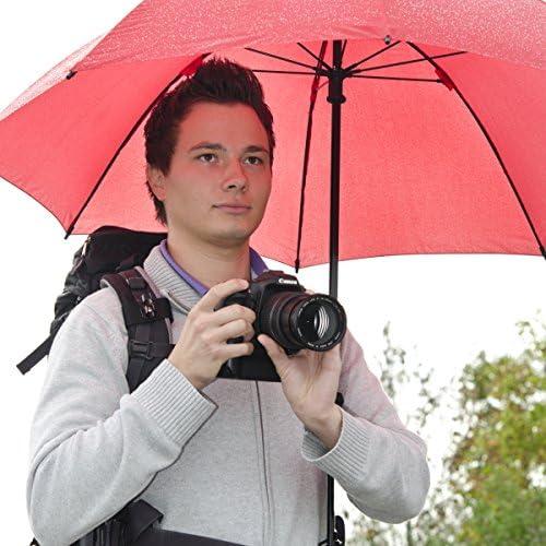 Walimex Pro Swing Handsfree Regenschirm Mit Tragegestell Rot