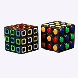 Qm-h Set 3x3x3 Classial Speed Magic Cube Stickerless Rubik's 2 Pieces Black