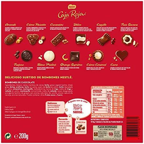 Nestlé Caja Roja, bombones de chocolate surtidos, 8 estuches - 8 x 200 gr. Total: 1600 gr: Amazon.es: Alimentación y bebidas