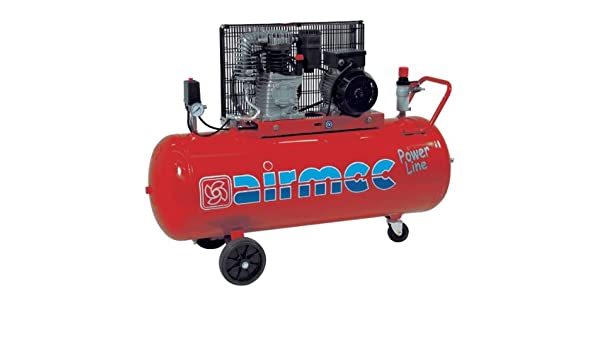 Espuelas - Compresor CRM 153 pl 2,2 kW 330 L/min. Depósito 150 litros - 230 Volt monofásico cabecero KC117 airmec.. Compresores monostadio a correa: ...