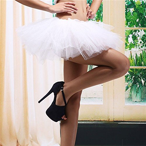 Blanc Ballet Femmes Pettiskirt Couche Etosell 5 Dance Jupe 4d00Cxw