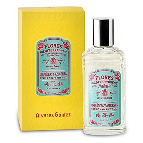Alvarez Gomez Perfumes Mediterranean Flowers Eau de Toilette Spray, Orchid & White Lily, 2.7 Fluid Ounce (Peony Musk De Toilette White Eau)