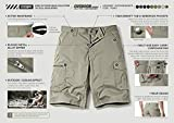 CQR Men's On-The-Go Cargo Shorts, Lightweight