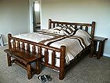 Rustic 5 Pc Pine Log Bedroom Suite Rustic Bed (Full)