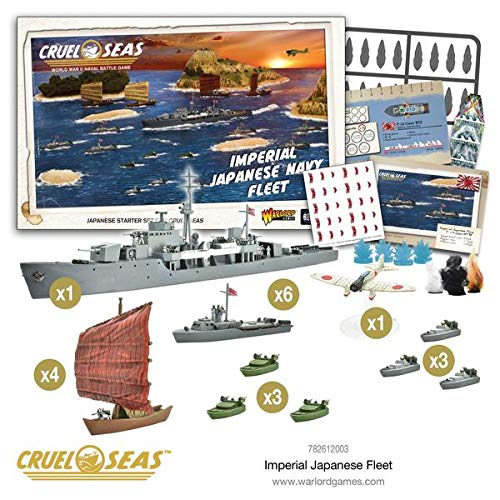 Cruel Seas Imperial Japanese Navy Fleet Starter Set, World War II Naval Battle Game