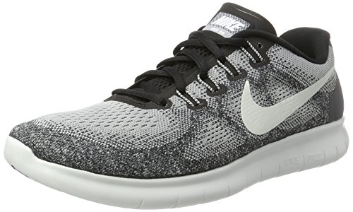 - Nike Mens Free RN 2017 Running Shoe, Wolf Grey/Off White-Pure Platinum-Black (11)