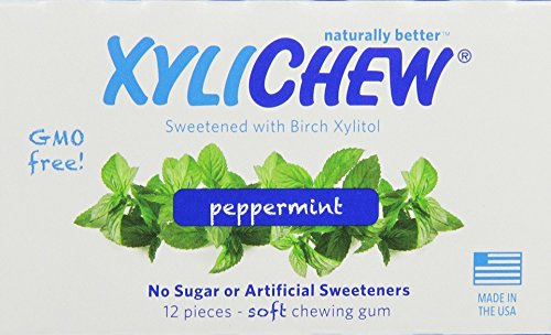 Xylichew Peppermint Counter Display Chewing Gum, 12 ()