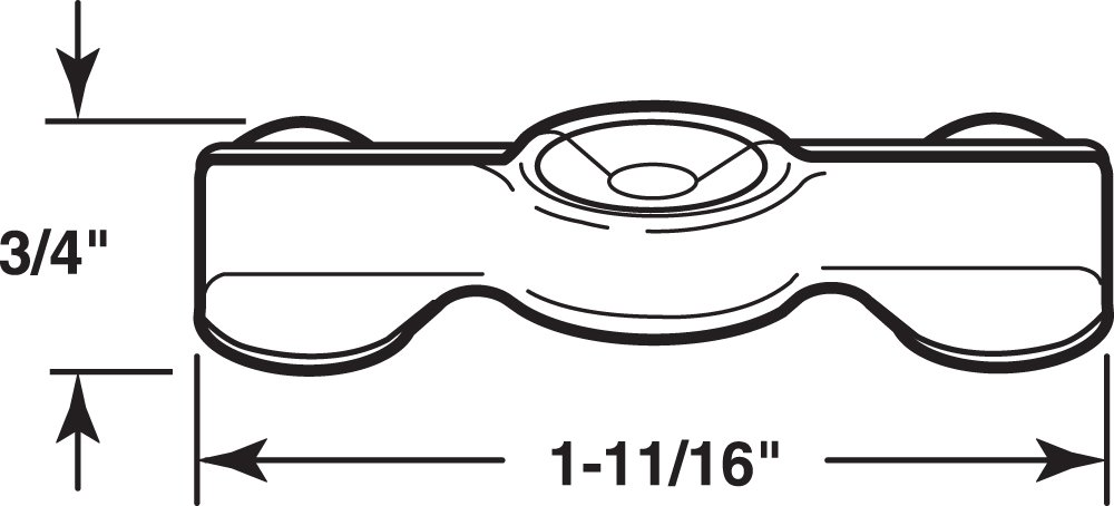 Prime-Line Products L 5772 Nickel Plated Double Wing Flush Clip