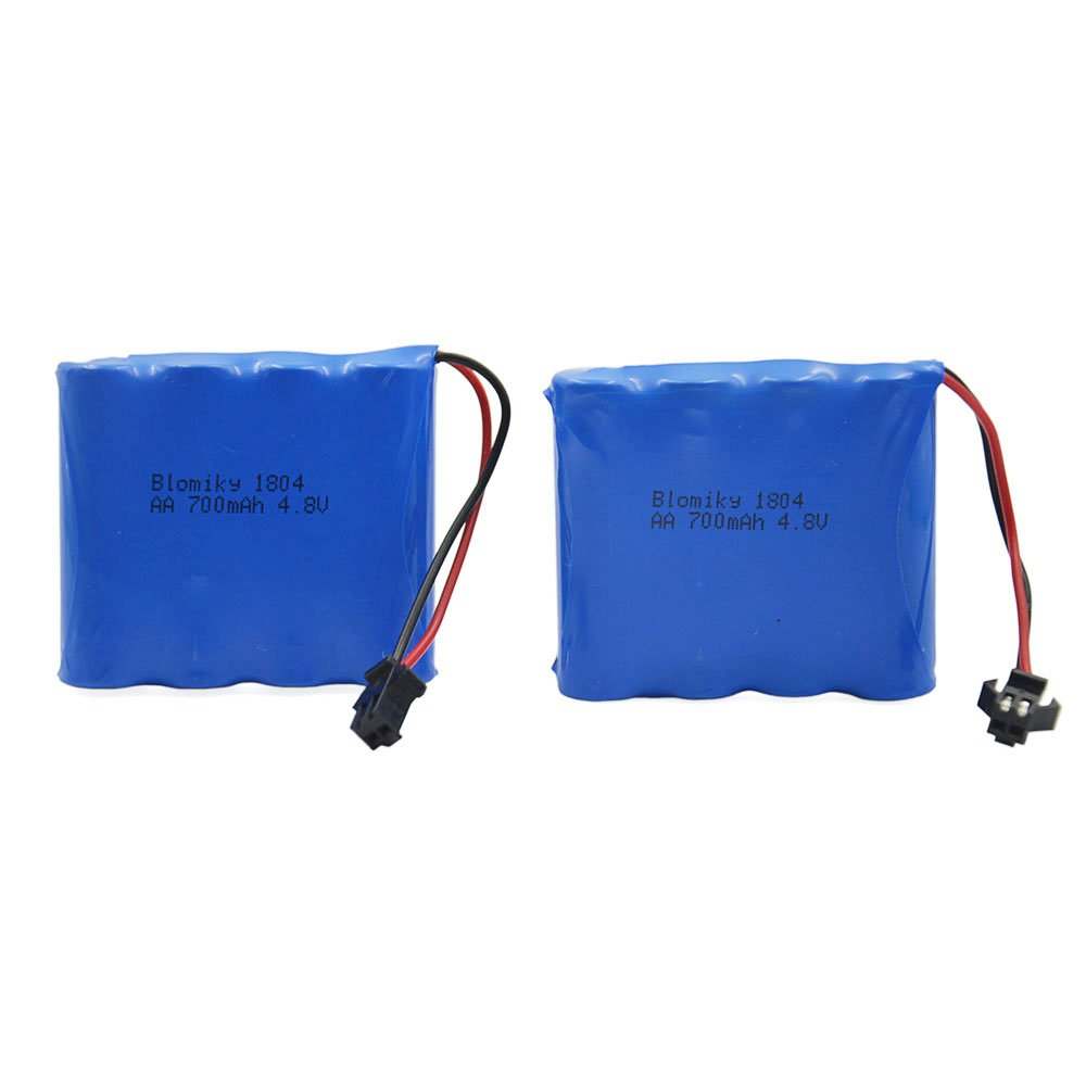 Blomiky 2pcs 4.8V 700mAH Battery C182 C185 C181 1/18 1:18 RC Truck Rock Crawler Vehicle RC Car C181 Battery 2 Pack JC