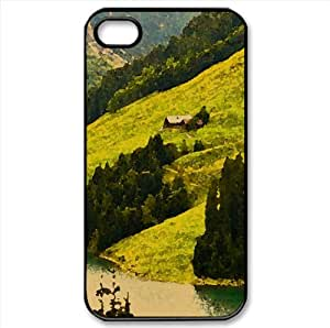 Mountain House Watercolor style Cover iPhone 4 and 4S Case (Mountains Watercolor style Cover iPhone 4 and 4S Case)