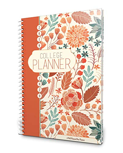Well Planned Day, College Planner, Blossom July 2019 - June 2020 (Best Planners For College Students 2019)