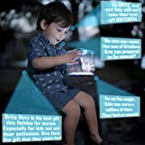 Solar Powered Camping Lantern LED Lights 130 Lumen Inflatable Waterproof Rechargeable Outdoor Collapsible Flashlights Lamp Hiking Biking Patio Picnic Fishing Hunting Summer 2017 Latest Gen.