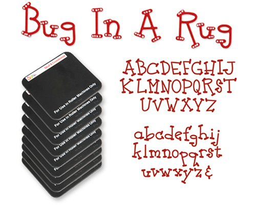 Sizzix Sizzlits Alphabet Set 9 Dies - Bug in a Rug by Stu -