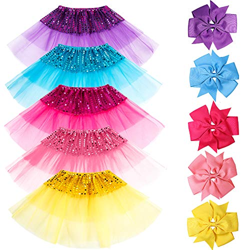 Princess Dress up Accessories for Little Girl Gift Set Tutu Skirt Birthday Party Favors for Girl