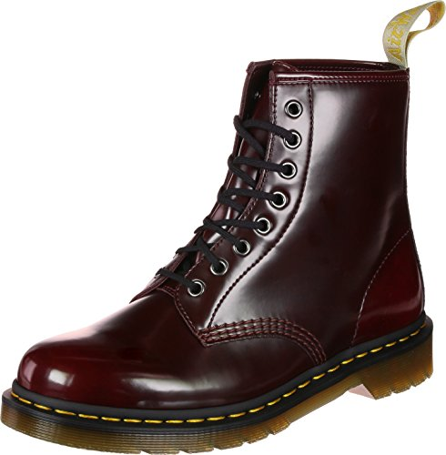 Dr. Martens Vegan 1460, Stivali Classici Unisex – Adulto Rosso (Cherry Red Cambridge Brush 600)
