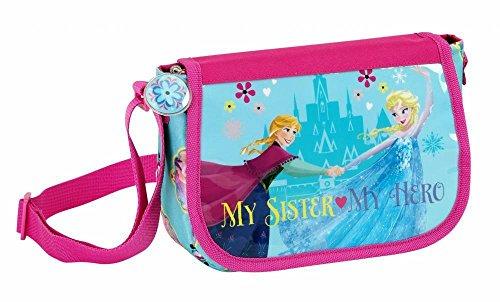 Disney Frozen - Schultertasche und Portmonee; hellblau, rosa
