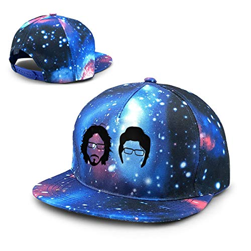 - HYRRYU Flight of The Conchords Band Head Portrait Poster Beautiful Starry Sky Adjustable Baseball Cap for Men and Women Blue
