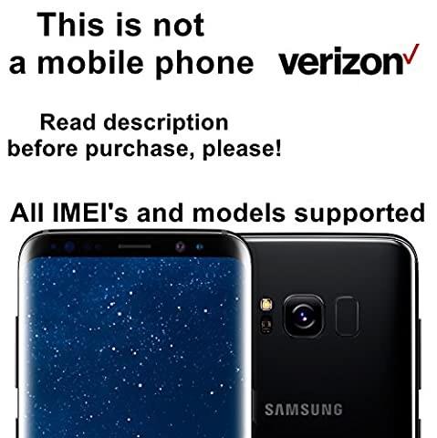 Verizon USA Factory Unlock Service for Samsung Galaxy S8, S8+, S7, S7 Edge, S6, S6 Edge and Other Models - All IMEI`s Supported - Feel the (Cell Phone Samsung Windows 8)