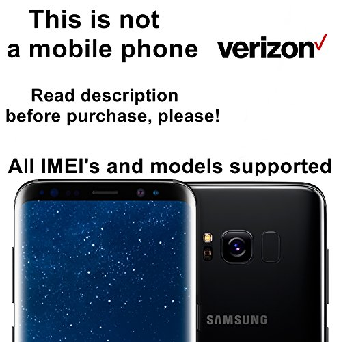 Verizon Wireless USA Unlocking Service for Samsung Galaxy S8, S8+, S7, S7 Edge, Note 5, Note 7 and Other Models - Make Your Device More Useful Than Before - Choose Any Carrier at Your Own at Any Time You Need - No Re-lock Lifetime Guarantee