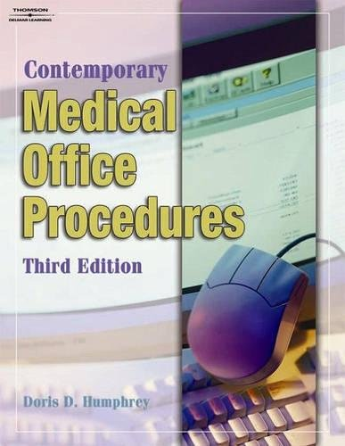 Student Workbook for Humphrey's Contemporary Medical Office Procedures, 3rd