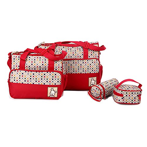 Tote Changing Multifunction 1 Red Capacity Handbag 5pcs In Set Travel Large Pad Diaper Baby Bigforest Bag Mummy Nappy PZfqCwS