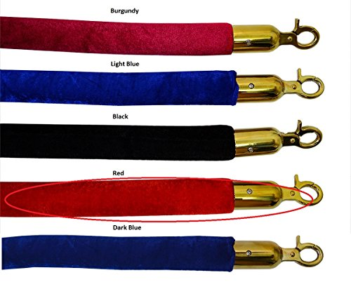 - Red Velour Decorative Rope in Gold Finished with 96