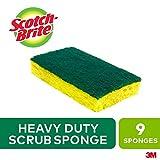 Scotch-Brite Scrub Sponge, 9 Pack, Heavy Duty, Garage/Outdoor/Kitchen Scrubber