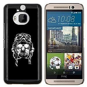 "Be-Star Único Patrón Plástico Duro Fundas Cover Cubre Hard Case Cover Para HTC One M9+ / M9 Plus (Not M9) ( Cráneo Piloto Negro Bike Riding Muerte"" )"